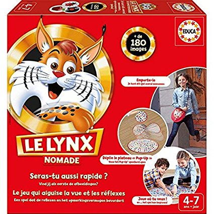 Educa - 16248 - Jeu De Société Éducatif - Le Lynx Nomade - https://www.amazon.fr/Educa-16248-Soci%C3%A9t%C3%A9-%C3%89ducatif-Nomade/dp/B00SFGYHVE/ref=sr_1_4?s=toys&ie=UTF8&qid=1527193905&sr=1-4&keywords=Lynx+Junior+jeu